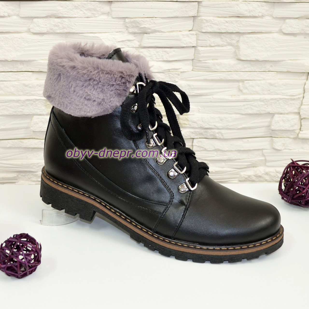 """Женские ботинки кожаные на байке от производителя  ТМ """"Maestro"""""""
