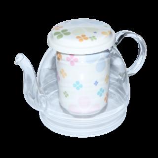 """Чайник стеклянный """"Клевер"""" 950 мл"""