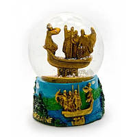 Стеклянный шар со снегом 8,5см х 7 см х 7 см