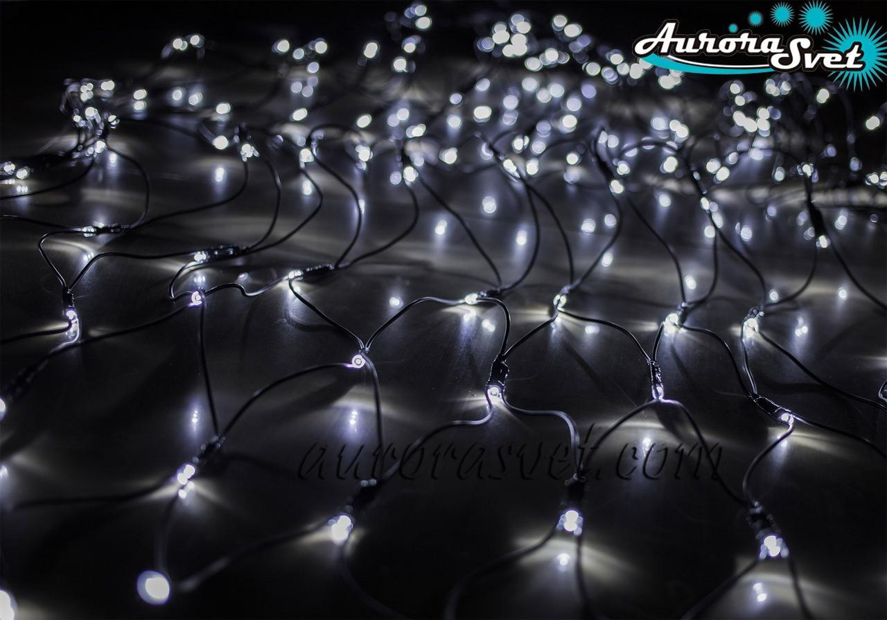 LED гирлянда от AuroraSvet сеть (холодный белый) 2х1м. Светодиодная гирлянда.