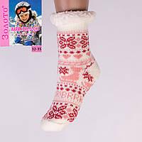 Тёплые детские домашние носки с тормозами Золото HD6007-4 32-35
