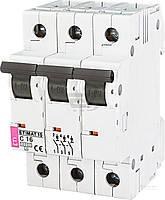 Автоматический выключатель ETI 10 3p C 16А (10 kA) 2135716
