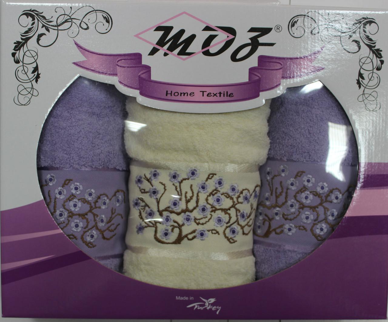 Набор полотенец Moz (банное и 2 шт. лицевое)