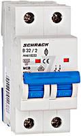 Автоматический выключатель Schrack 2P В 32А (6кА) AM618232--