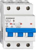 Автоматический выключатель Schrack 3P В 32А (6кА) AM618332--