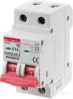 Автоматический выключатель  E.next e.mcb.stand.45.2.C16, 2р, С 16 А, 4.5 кА s002017