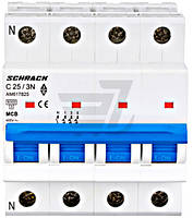 Автоматический выключатель Schrack 3P+N С 25А (6кА) AM617825--