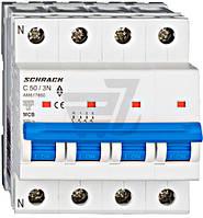 Автоматический выключатель Schrack 3P+N С 50А (6кА) AM617850--