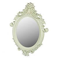 """Настенное овальное светло-зеленое зеркало """"Будуар"""", 78х55 см."""