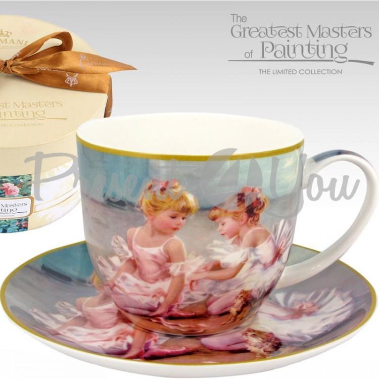 Чашка с блюдцем «Маленькие балерины» Carmani, 300 мл (045-0213)
