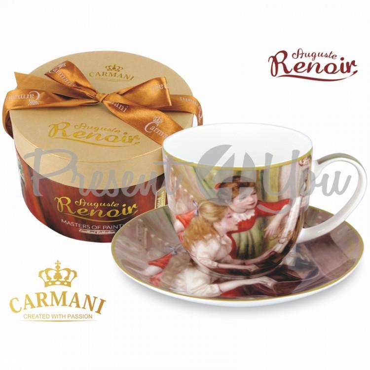 Чашка с блюдцем О.Ренуар «Девушки» Carmani, 300 мл (045-0215)