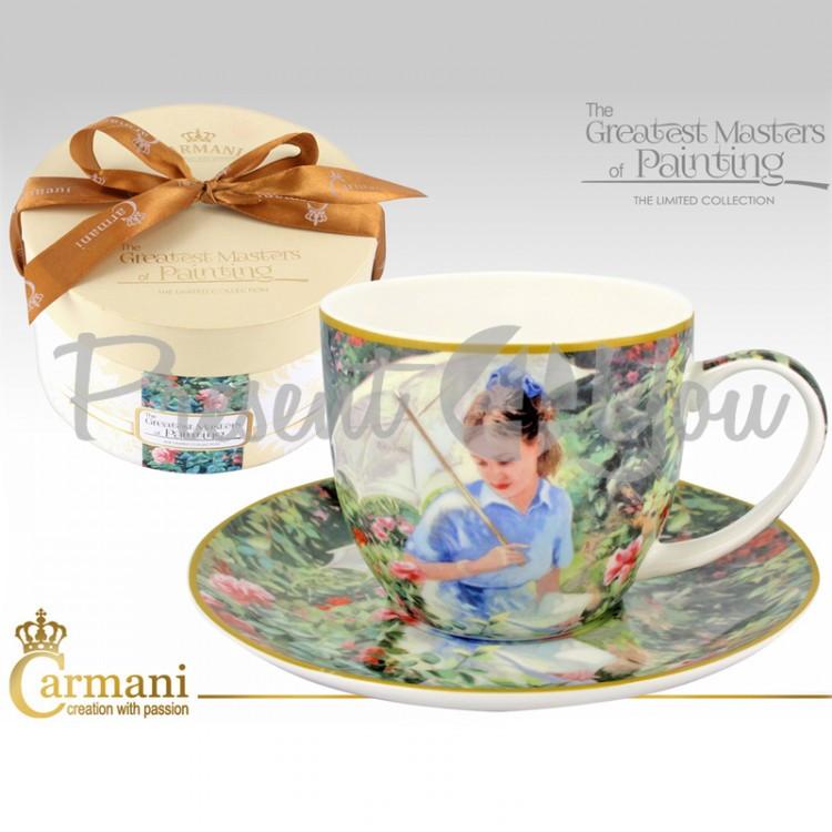 Чашка с блюдцем «Впечатления в саду», 300 мл (045-0209)