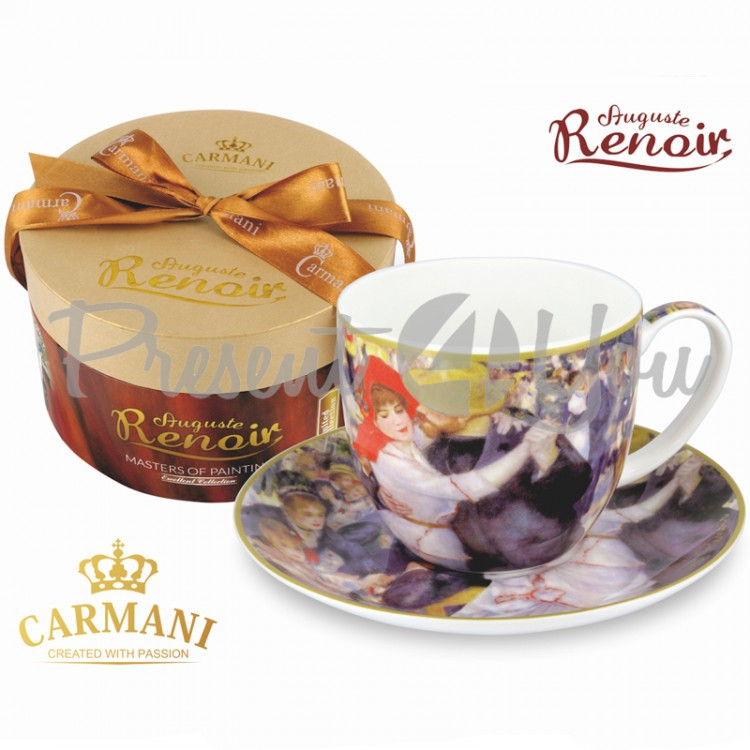 Чашка с блюдцем О.Ренуар «Бал в Мулен де ла Галетт» Carmani, 300 мл (045-0217)