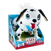 """Игрушка PEPPY PETS """"Веселая прогулка"""" - Далматинец (размер 28 см, ошейник, поводок)"""