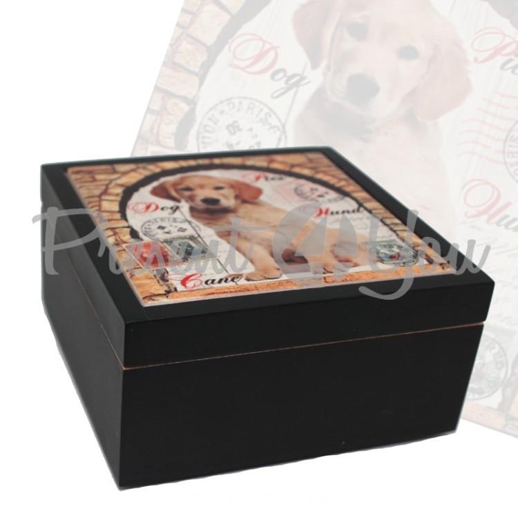 Шкатулка для бижутерии «Собака», 11,5х11,5; 9,5х9,5 см (262-2135B)