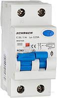 Дифференциальный автоматический выключатель Schrack 6кА/30мА 1P+N 25A CA AK667625--