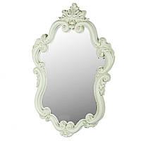 "Настенное овальное фисташковое зеркало ""Гламур патина"", 78х55 см."