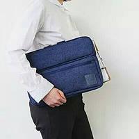 Сумка для ноутбука и гаджетов противоударная. Синий