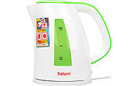 Электрочайник Saturn ST-EK8437 White/Light Green 1,7л 2,2кВт диск . Контактная группа STRIX