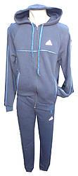 Спорт костюм мужской на флисе с капюшоном манжеты adidas (зима)