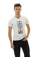 Мужская футболка Стрейч ТМ ARBOKLE Арт.68262(белая)