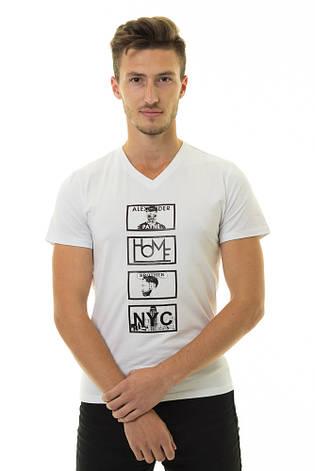 Мужская футболка Стрейч ТМ ARBOKLE Арт.68268(молочная), фото 2