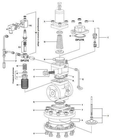 Запасные части для редукционных клапанов с пилотным управлением Ду15 - Ду50 DP27, DP27E, DP27G и DP27Y Spirax , фото 2