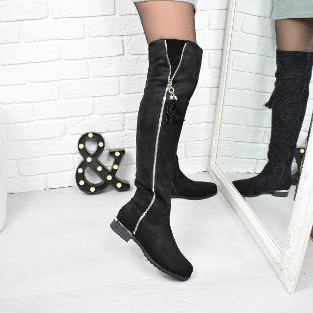 ab2e57952 Сапоги женские ботфорты Молнии ЗИМА 3774, зимняя обувь - AlexTop в Днепре