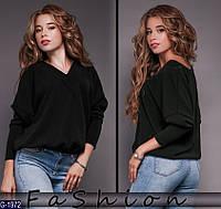 Женская черная кофта из ангоры.  Арт-12361