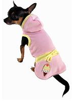 Платье для собаки Мороженое-Розовый-L, фото 1