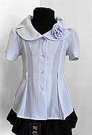 Блузка детская  № 290 Блузочная белая , фото 1