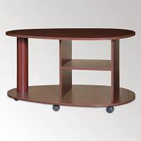 Фигурный журнальный столик Капля для дома и офиса, мобильный