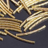 Бусины трубочки из латуни