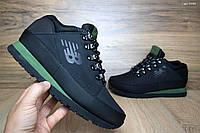 Мужские кроссовки в стиле New Balance 754 черные с зеленым