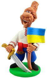 """Статуэтка """"Украинский казак c саблей"""""""