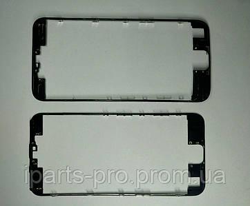 Рамка под стекло модуля iPhone 6S (4,7) ЧЁРНЫЙ с клеем orig