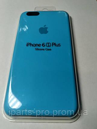 Чехол Silicone Case iPhone 6 плюс/6S плюс ВАСИЛЬКОВЫЙ , фото 2