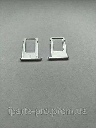 Лоток для сим-карты для iPhone 6 СЕРЕБРО, фото 2