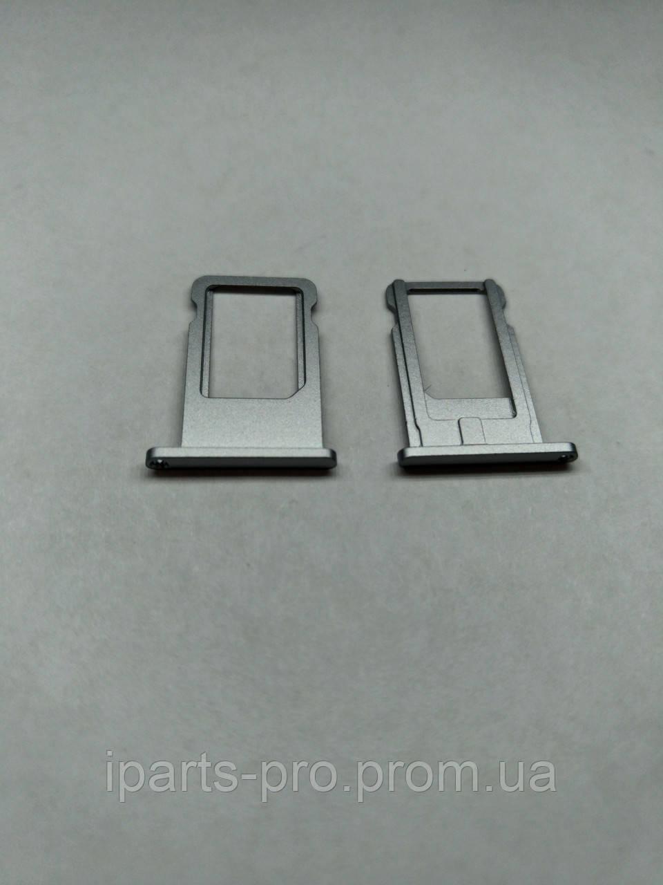 Лоток для сим-карты для iPhone 6 ЧЕРНЫЙ