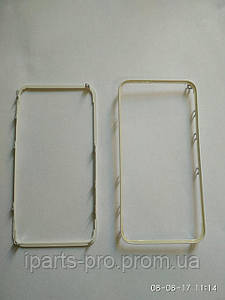 Рамка под стекло модуля iPhone 4S БЕЛЫЙ с клеем