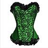 Корсет зеленый с бантиками