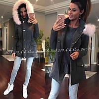 Модное кашемировое пальто с капюшоном