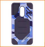 Бронированный противоударный TPU+PC чехол MOTOMO (Military) для Xiaomi Redmi Note 4X/ 4 (SD) Сamouflage/Blue