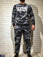 Спортивный мужской костюм т.серый  . Арт-13022