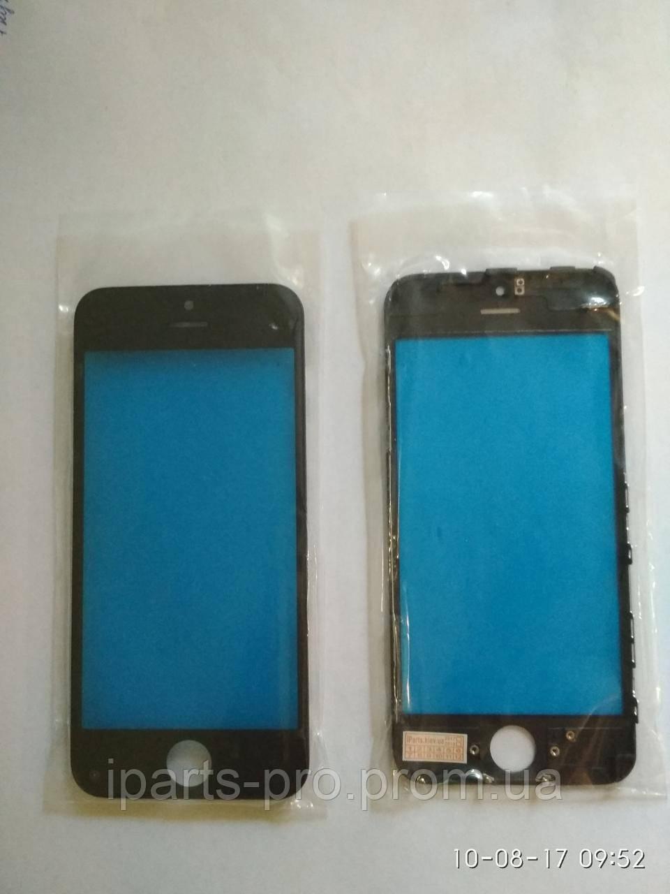 Стекло для iPhone5С + Frame Orig ЧЕРНЫЙ (для ремонта битого модуля)