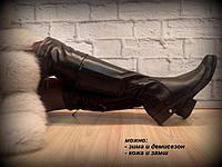 """Ботфорты демисезонные """"Фейшн"""" натуральная кожа код 2220/1, фото 1"""