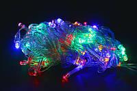 Гирлянда светодиодная цветная 10м-100 лампочек, фото 1