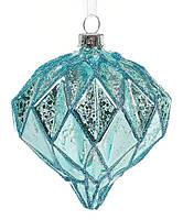 Елочное украшение 11см, состаренный голубой