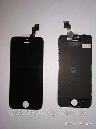 Дисплей Модуль LCD для iPhone5C + Touch Orig ЧЕРНЫЙ, фото 2