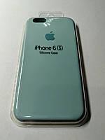 Чехол Silicone Case iPhone 6 /6S  БИРЮЗА